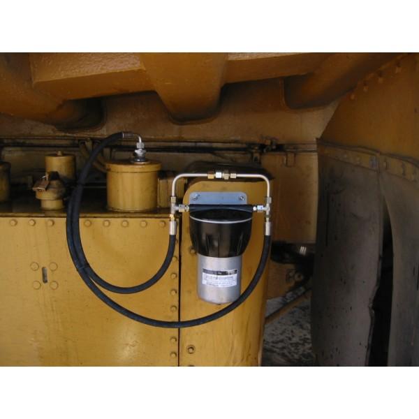 Monterat filter på lastmaskin
